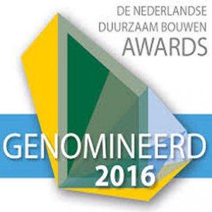Nominatie Duurzaam Bouwen Awards 2016